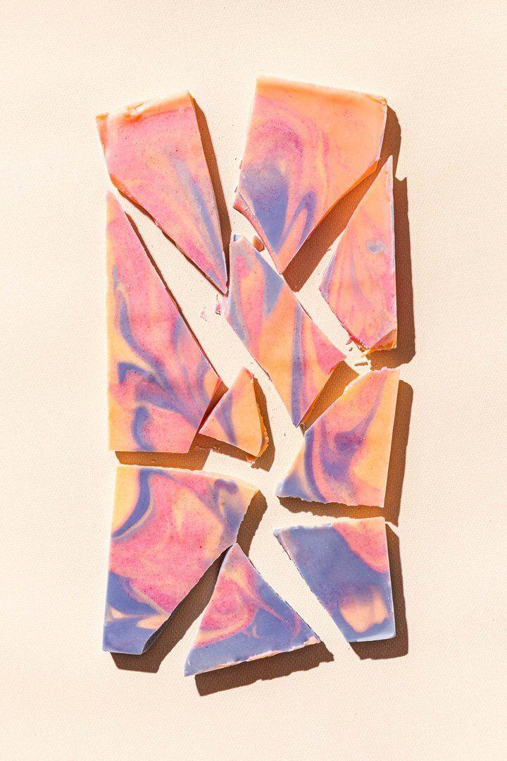 Tie-Dye Chocolate Bars