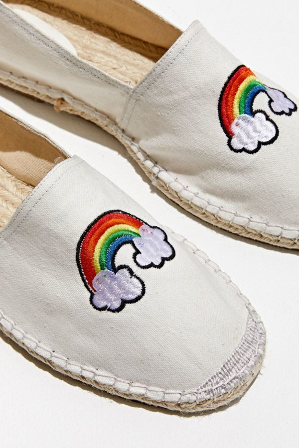 Rainbow-Accented Canvas Shoes - Urban Outfitters' Rainbow Espadrilles Boast a Stylishly Simple Look (TrendHunter.com)
