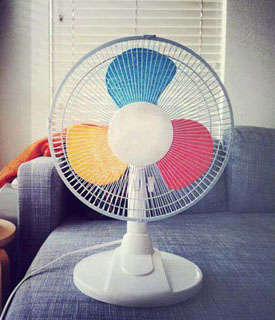 Diy Colorful Fans Rainbow Fan
