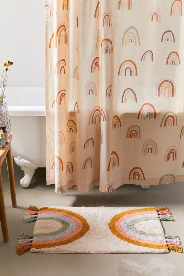 Rainbow Fringe Bath Mats