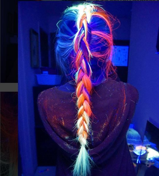 Fluorescent Light Glowing Red: Glowing Fluorescent Hairstyles : Rainbow Hair