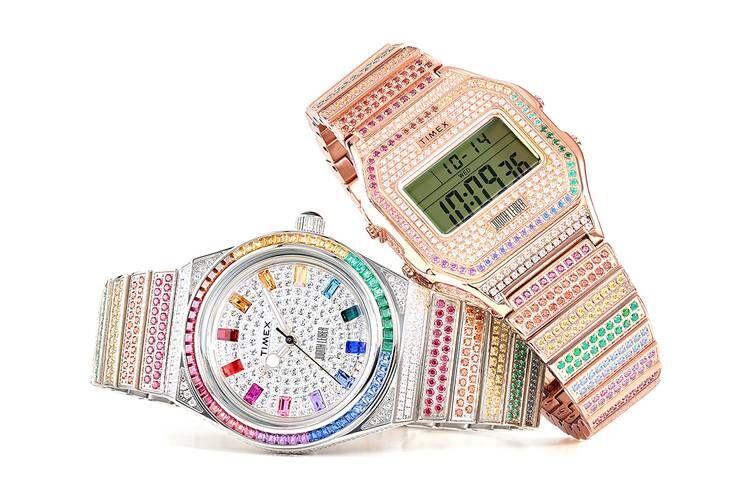Rainbow Jewel-Encrusted Timepieces