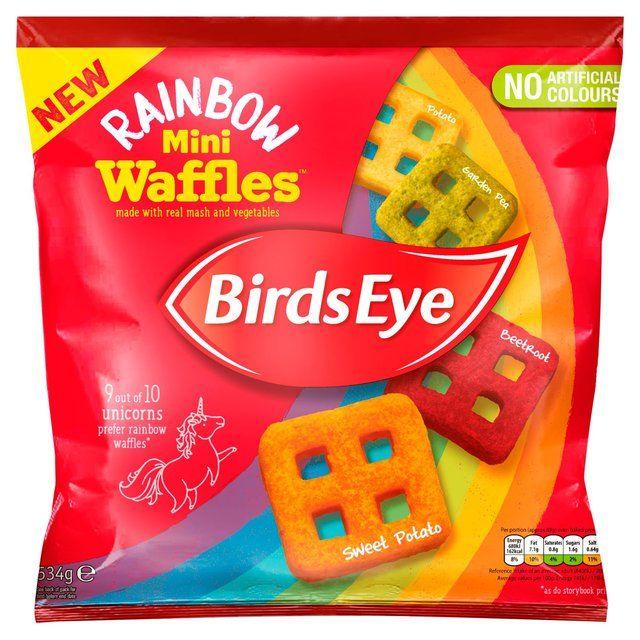 Vegetable-Packed Rainbow Waffles