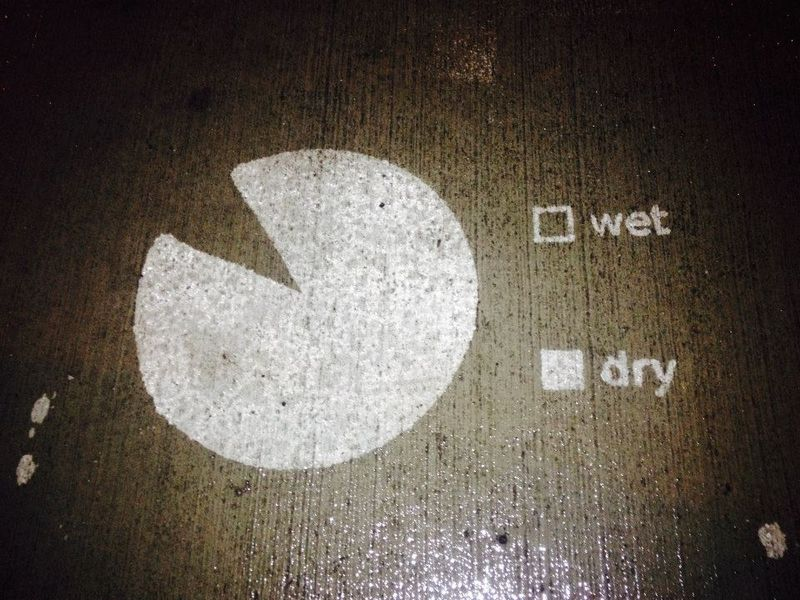 Rain-Activated Street Art