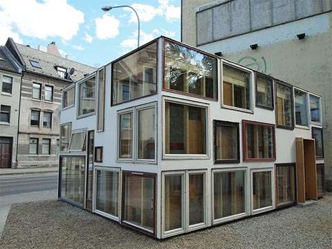 Recycled Window Pavilions