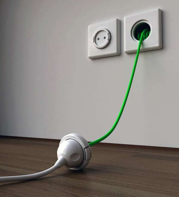 Recoiling Electrical Outlets