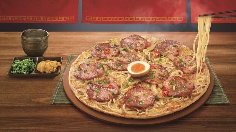 Ramen-Topped Pizzas