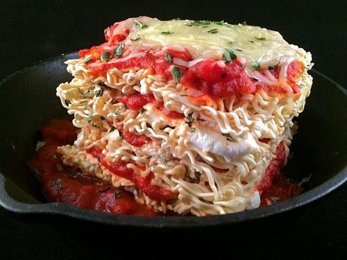 Instant Noodle Lasagnas