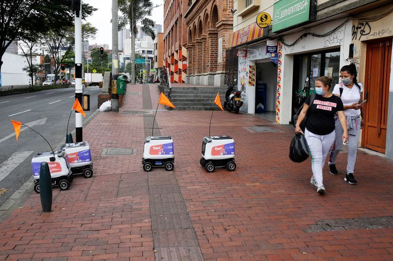 Pandemic-Prompted Robot Food Deliveries