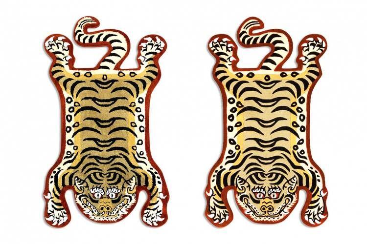 Vintage Tiger Motif Rugs