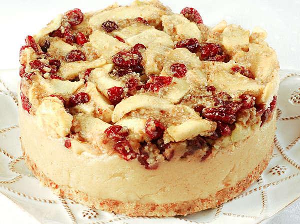 Vegan Apple Cranberry Cheesecake