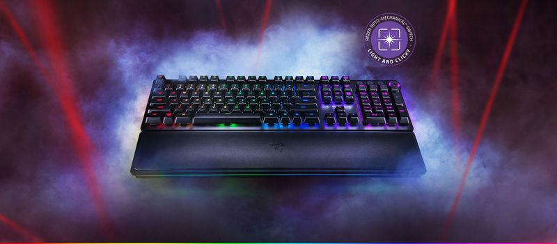 Laser-Activated Gaming Keyboards