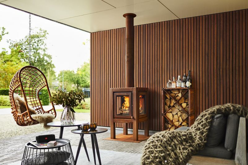 Industrial Exterior Fireplaces