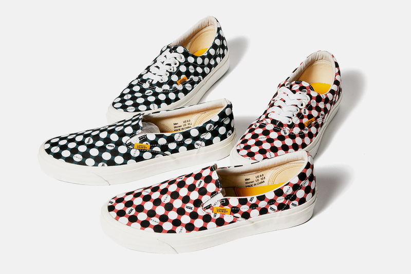 Polka-Dotted Canvas Sneakers