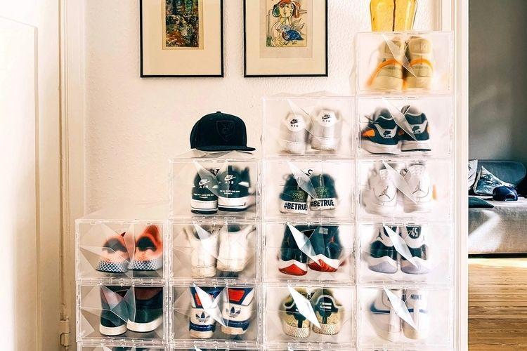 Crystalline Sneaker Storage Boxes