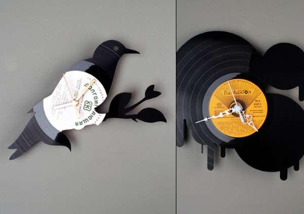 Shapely Record Clocks