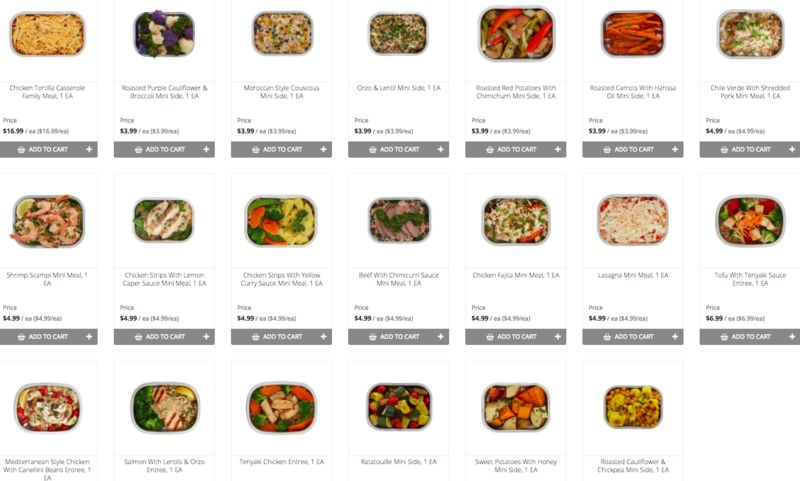 Multi-Size To-Go Meals