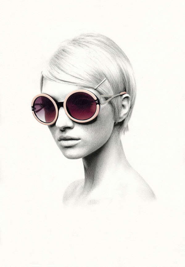 Eyewear-Accented Illustrations