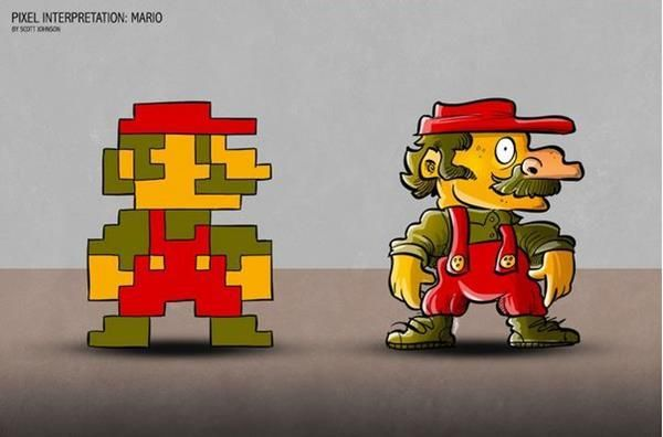 Real-Life 8-Bit Characters