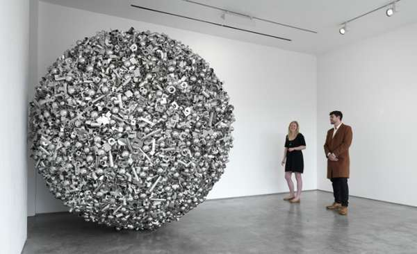 Globular Metal Sculptures