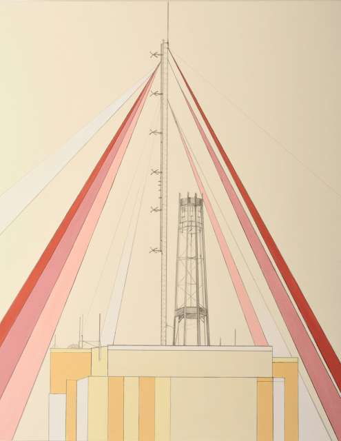 Geometrical Cell Tower Drawings