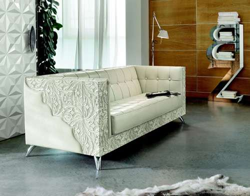 Intricately Carved Couches