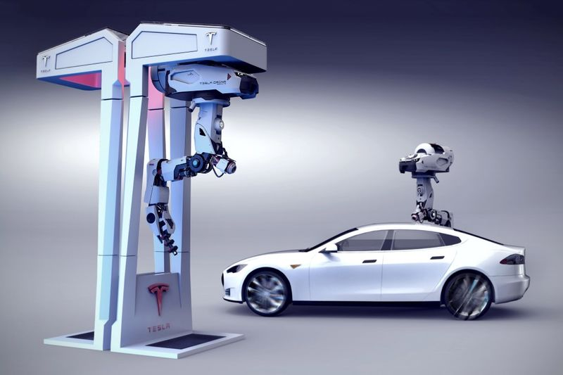 Car-Recharging Drones