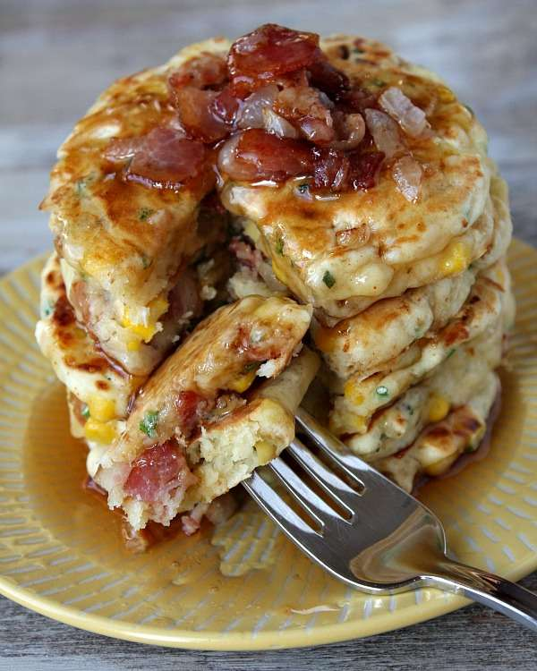Bacon-Brimming Flapjacks