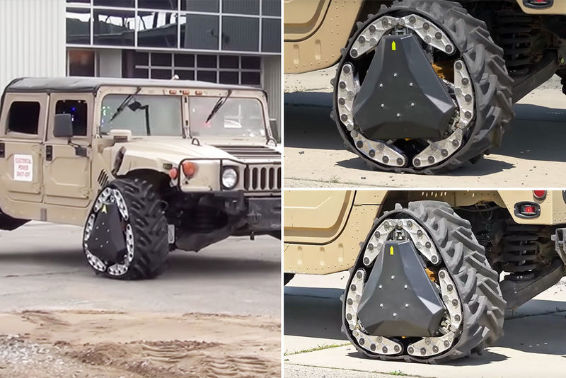 Adaptable Shapeshifting Tires Reconfigurable Wheel Track