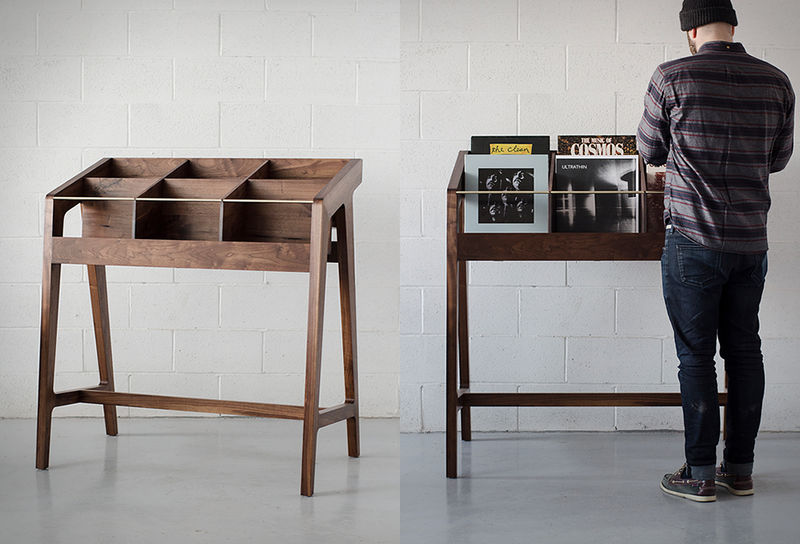 vinyl record furniture. Sleek Vinyl Record Displays Furniture