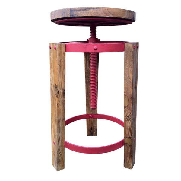 Rustic Upcycled Wood Stools Recrate Stool Up Cycle