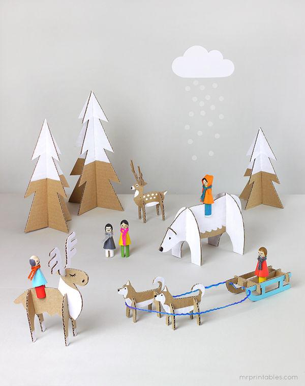 DIY Arctic Cardboard Playsets