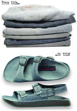 Sandals from Old Jeans