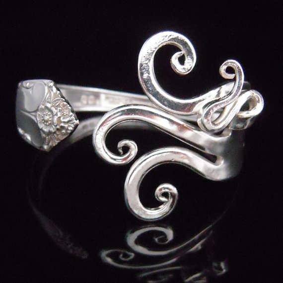 Elegantly Curved Utensil Jewelry