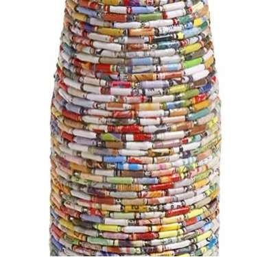 Recycled Magazine Vases