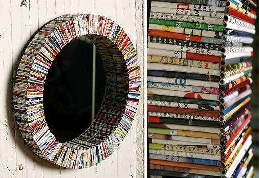Recycled Magazine Art