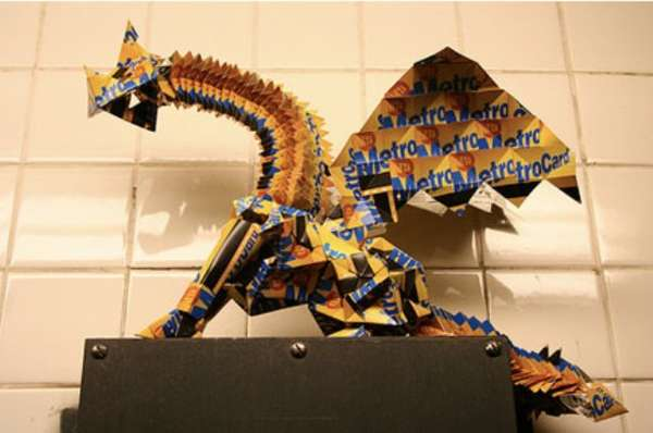 Recycled Metrocard Art