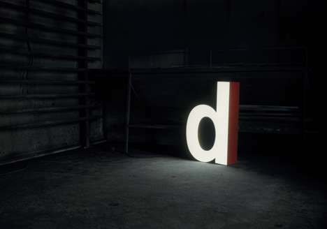 Recycled Typography Lamps