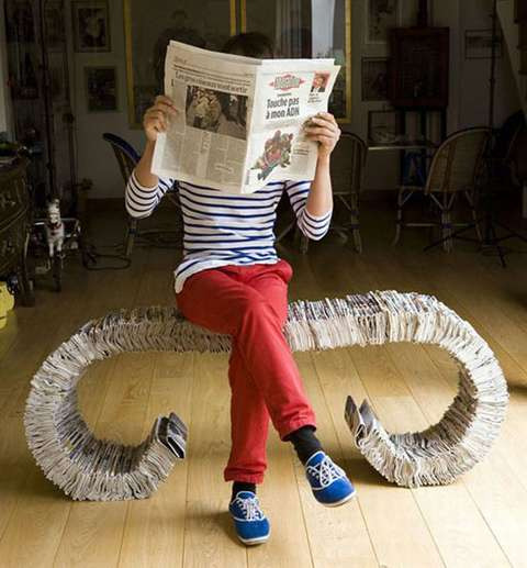 Seating From Recycled Newspapers