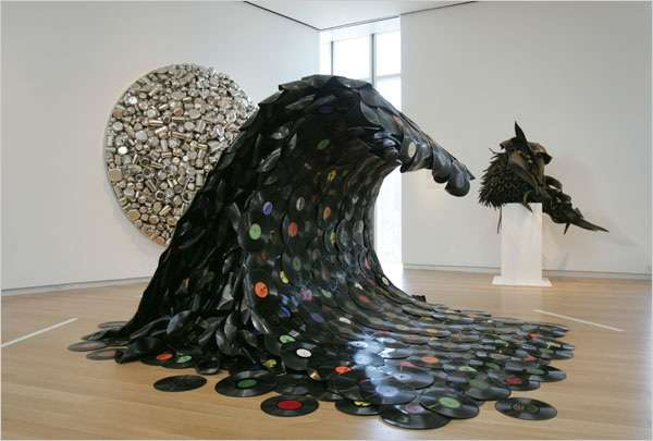 Recycled Record Sculptures