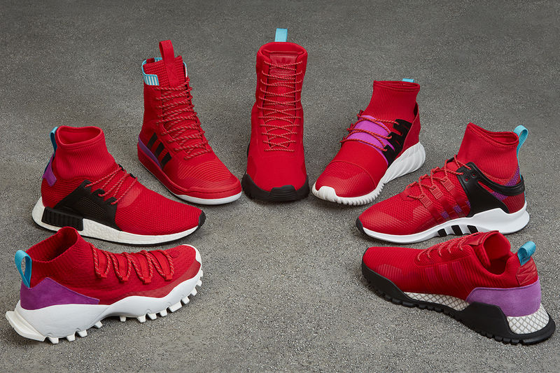 Season-Focused Red Sneaker Collections