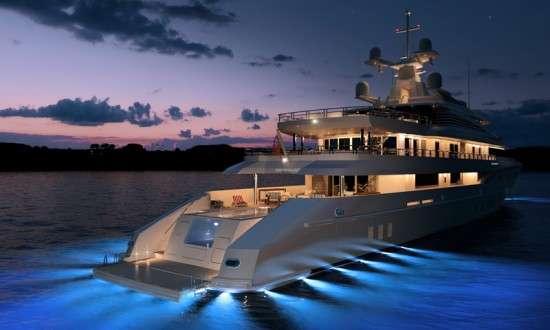 Stylish Glowing Yachts