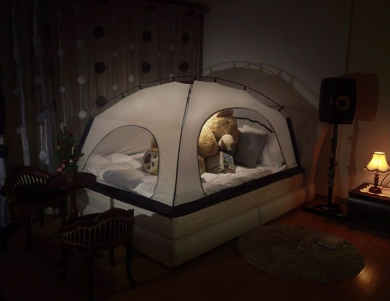 insulating indoor tents reduce heating costs. Black Bedroom Furniture Sets. Home Design Ideas