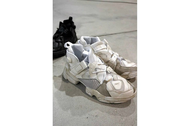 Ironically Worn-Out Sneakers