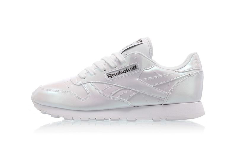 Pearlescent Leather Sneakers