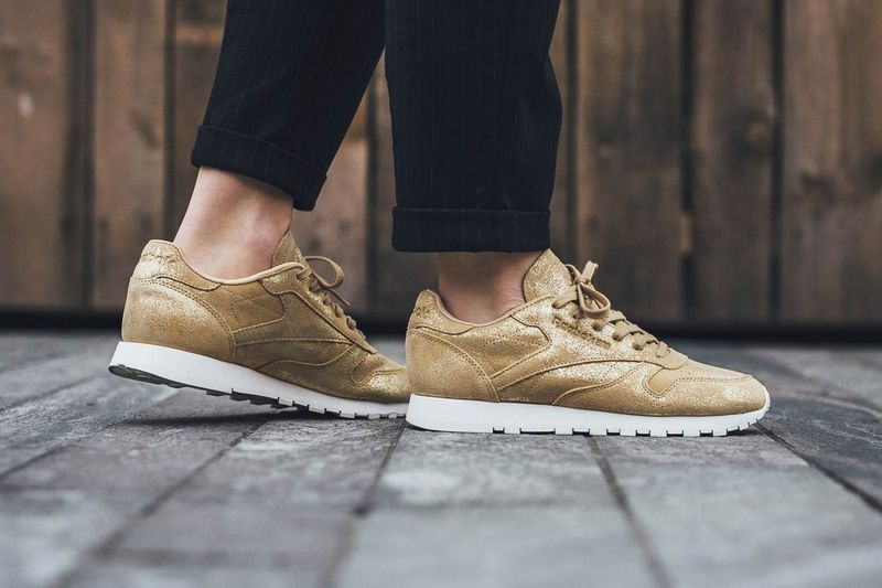 Gold Leather Sneakers : Reeboks Gold
