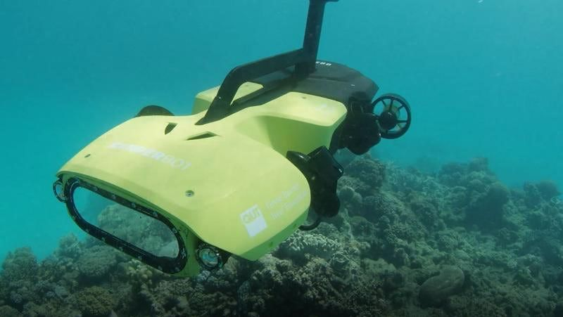 Reef-Monitoring Underwater Drones