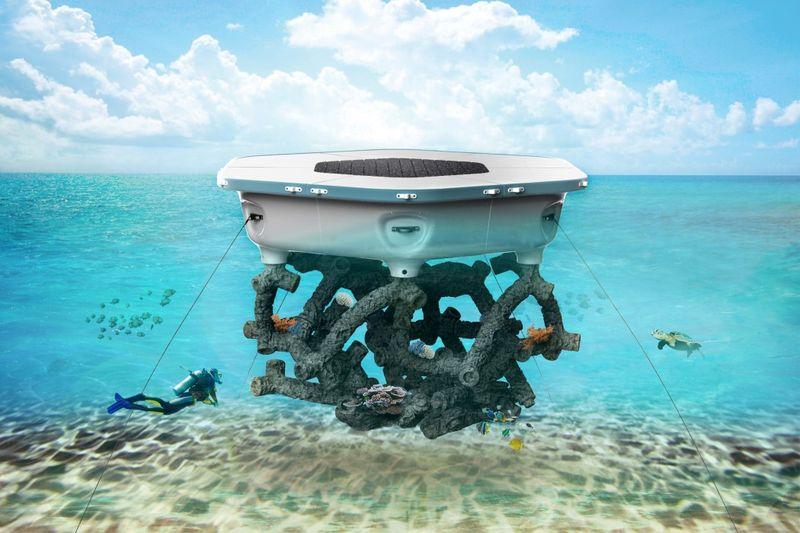 Coral-Mimicking Aquatic Platforms