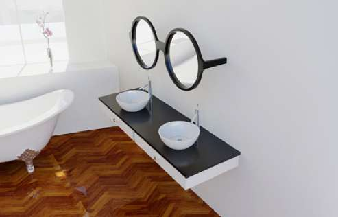 Bespectacled Bathroom Mirrors