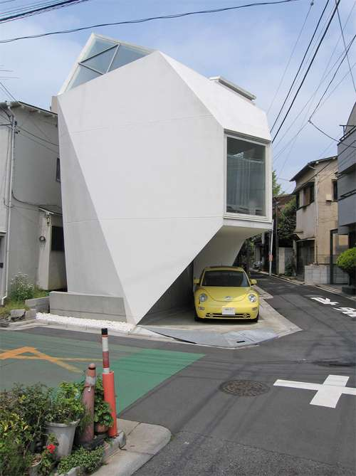 Trapezoidal homesteads reflection of mineral house for Small japanese house design in tokyo by architect yasuhiro yamashita